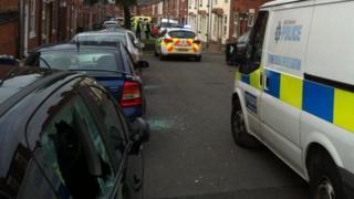 Crime scene in Eastwood, Rotherham