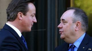 David Cameron and Alex Salmond