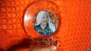 A trophy given to Almihan Sayit for being the country's oldest women by the China Gerontological Society, in August 2013