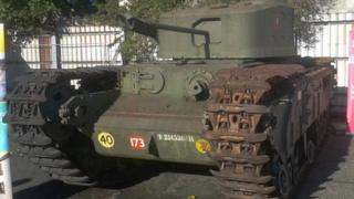 Restored Churchill tank