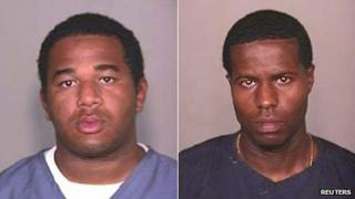 Prison booking photos of Joseph Jenkins (left) and Charles Walker (right)