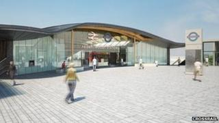 Artist's impression of Abbey Wood Station