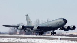File photo of US air base at Manas. File photo