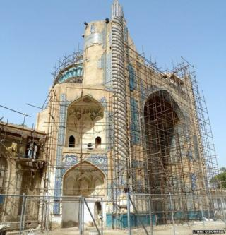 The 15th Century Khwaja Parsa Mosque in Balkh, Afghanistan