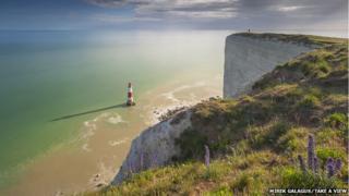 Sundial, Beachy Head, East Sussex, by Mirek Galagus