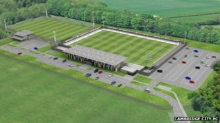 Artist's impression of new Cambridge City FC stadium