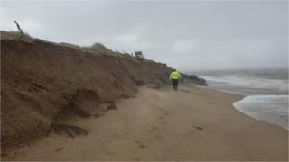 Norfolk beach erosion