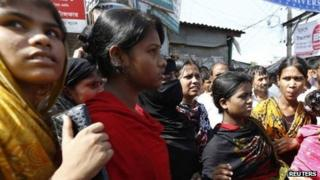 Bangladeshi garment workers in September 2013