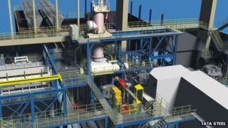 Image of new furnace planned for Tata Steel plant at Stocksbridge