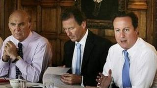 Vince Cable, Sir Gus O'Donnell, David Cameron