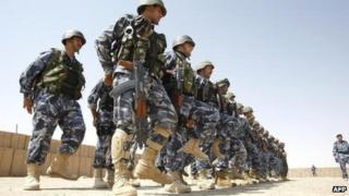 Iraqi policemen in Anbar (2009)