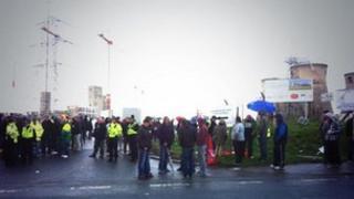 Protest at Ferrybridge