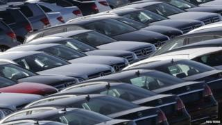 New cars in a car park near Barcelona, 23 October