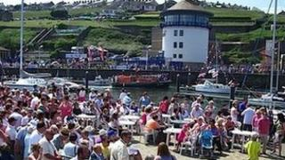 Activities take place all around the harbour area during the Whitehaven Festival