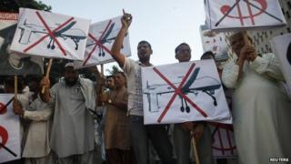 Pakistan drone protest