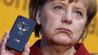 Angela Merkel, the leader of Germany