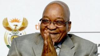 Jacob Zuma in Midrand, South Africa (3 October 2013)
