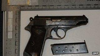 A gun seized in operation Challenger