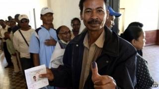A voter in Madagascar - 25 October 2013