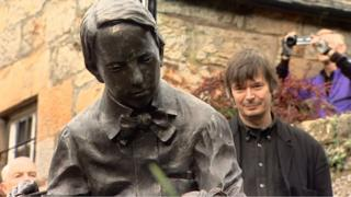The Robert Louis Stevenson statue was unveiled by Ian Rankin