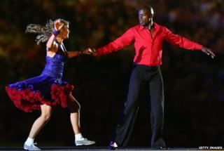 Martin Offiah and Erin Boag