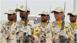 Iranian border guards (file)