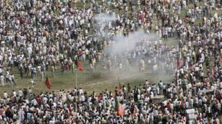 A massive crowd was present at Patna's Gandhi Maidan when a bomb exploded on Sunday