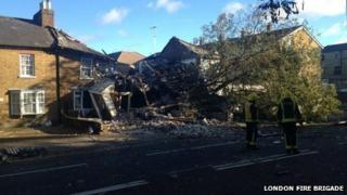 A tree collapse in house in Hounslow