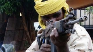 Archive shot of a Seleka rebel - July 2013