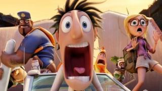 A scene from Cloudy with a Chance of Meatballs 2