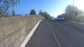 The road in Ludgershall, Wiltshire