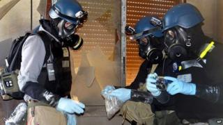 Chemical weapons inspectors in Syria