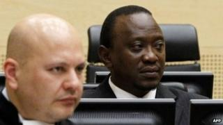 This picture taken on August 8, 2011 shows Kenyan President Uhuru Kenyatta at the International Criminal Court in The Hague.
