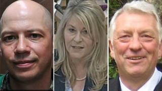 Stuart Braithwaite, Pauline McNeill and Jim Tough