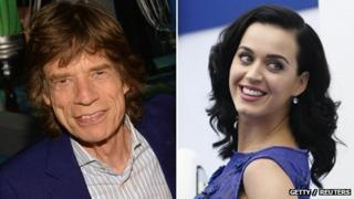Mick Jagger and Katy Perry composite