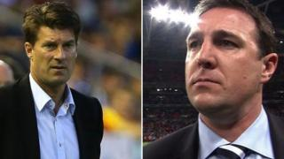 Michael Laudrup a Malky Mackay
