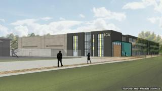 Artist's impression of Telford Cooperative Academy