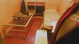 One of the cells in Murmansk jail where Greenpeace group are held