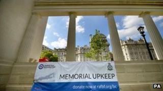 Bomber Command Memorial in Green Park