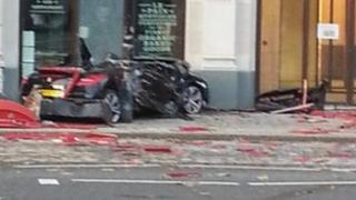 Car crash in Ludgate Hill