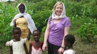 Rosamond Bennett on one of her trips to Africa