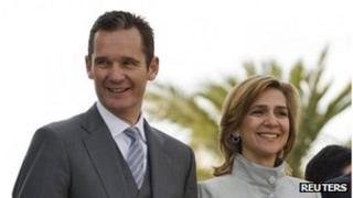 Archive photo of Inaki Urdangarin (left) and his wife, Princess Cristina, 2011