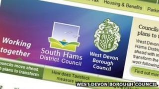 West Devon Council website