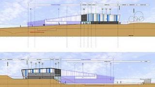 Artist's impression of swimming pool extension at Scarborough Leisure Village