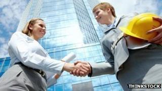 Professional women handshake