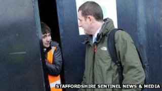 Michael Baggaley is refused entry