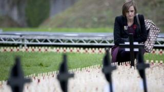 Last year's field of remembrance service in Cardiff
