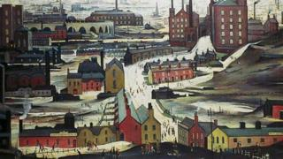 Industrial Landscape by LS Lowry (detail)