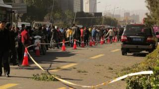 Police are investigating the blasts in Taiyuan