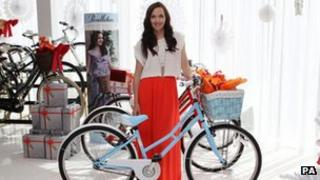 Victoria Pendleton unveils her new bike range